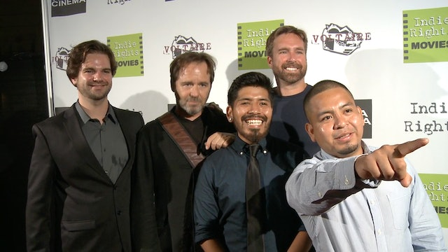 Steve Gute, Sam Slovick, Luis Vargas, Michael Madison and Gonzalo Rios Castro at the Radicalized Premiere.