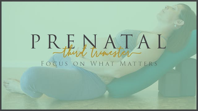 Focus on What Matters (3rd Trimester - 2)