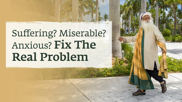 Suffering? Miserable? Anxious? Fix The Real Problem