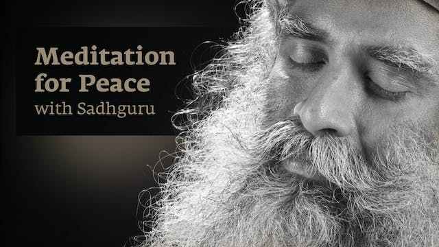 Meditation for Peace with Sadhguru