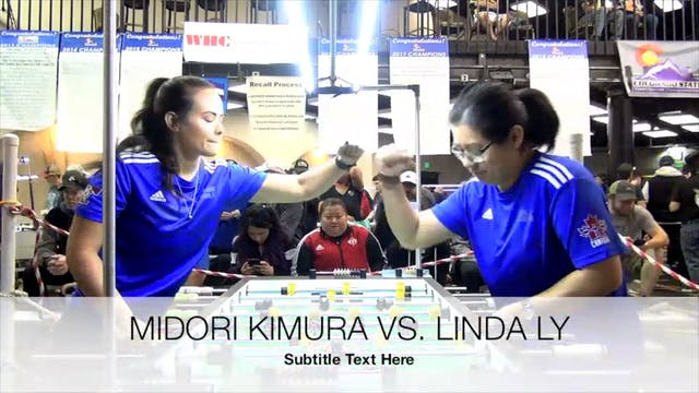 Midori Kimura vs. Linda Ly   Women's ...