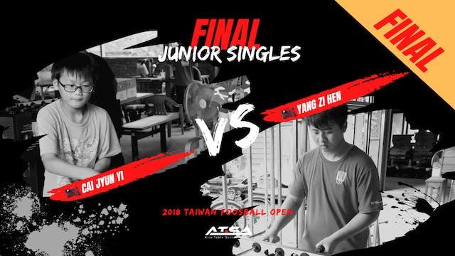 [Cai Jyun Yi]vs[Yang Zi Hen] | JS-Final