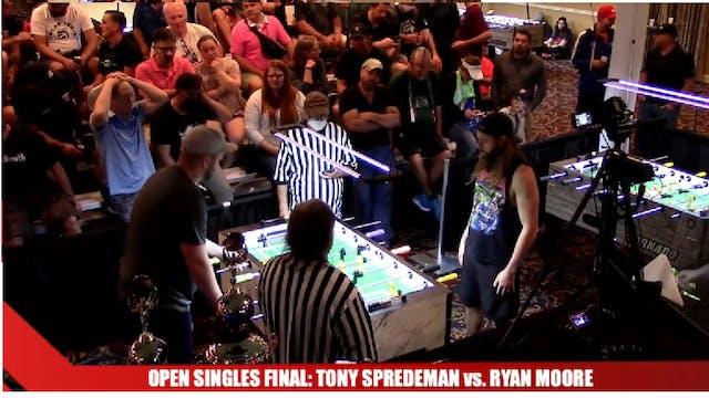 Open Singles Final Set 2 | Tony Spred...
