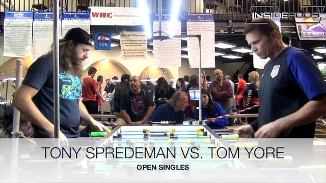 Tony Spredeman vs. Tom Yore | Open Si...