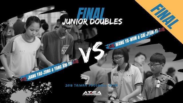 [Jiang Yao-Zong & Yang Xin-Yu]vs[Wang Ya-Wun & Cai Jyun-Yi]   JD-Final
