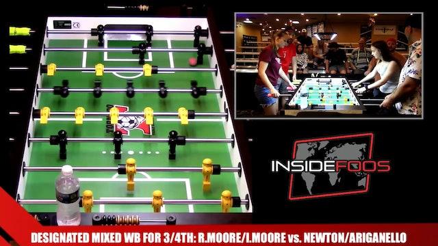 R.Moore/I.Moore vs. Newton/Ariganello | Designated Mixed WB for 3/4th