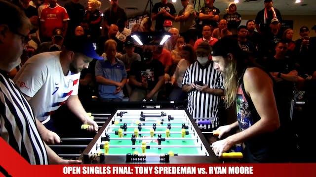 Open Singles Final Set 1 | Tony Spred...