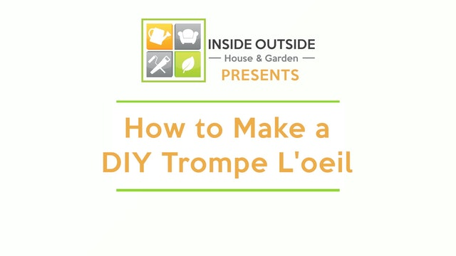 How to Make a DIY Trompe l'oeil