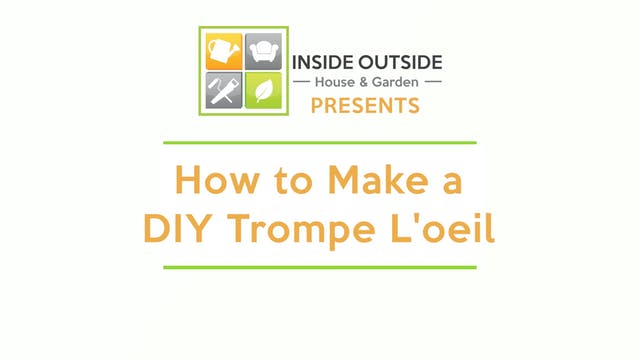 How to Make a DIY Trompe l'oeil