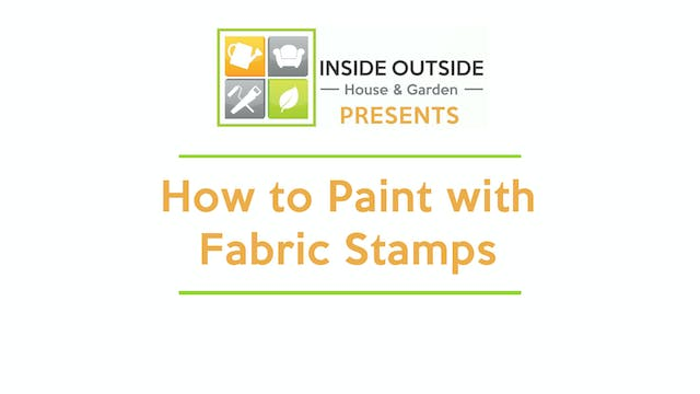 How to Paint with Fabric Stamps