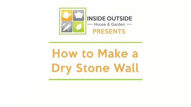 How to Make a Dry Stone Wall