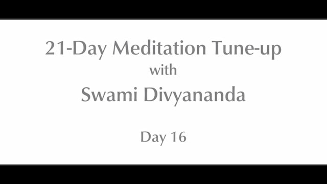 21-Day Mediation Tune-up: Day 16 with Swami Divyananda