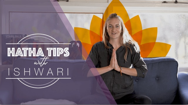 Hatha Yoga Tips: Yoga poses on the Couch, Tip 1 with Alex Ishwari