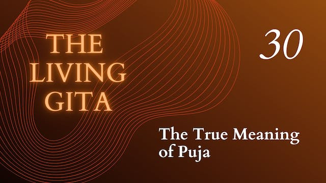 Part 30: The True Meaning of Puja