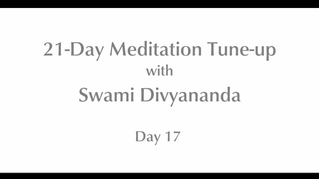 21-Day Mediation Tune-up: Day 17 with Swami Divyananda