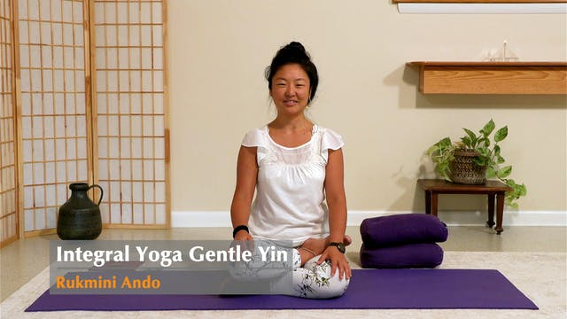 45-minute Gentle Yin Yoga with Rukmin...