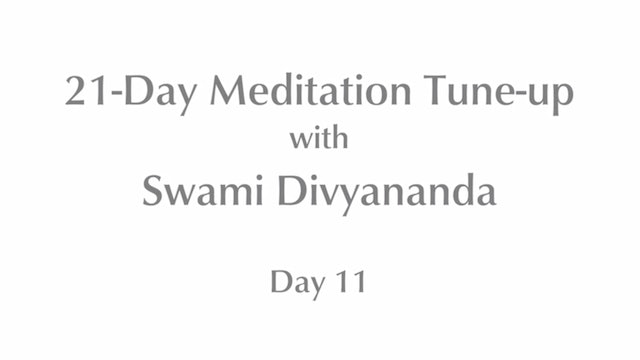 21-Day Mediation Tune-up: Day 11 with Swami Divyananda