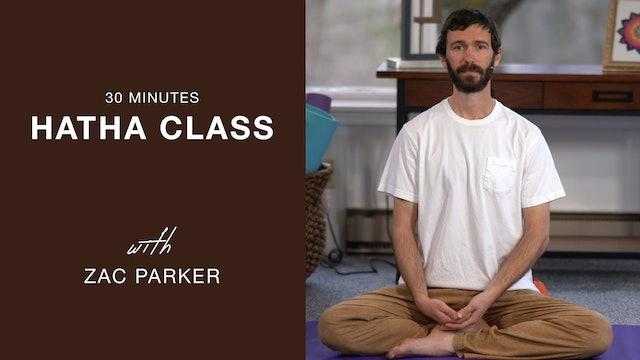 Hatha Yoga - 30 min. Level 1 class with Zac Parker