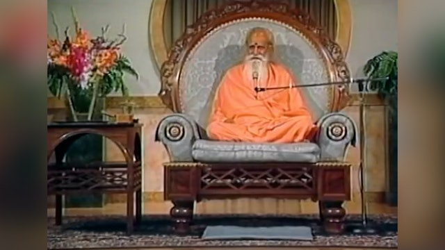Dhyana, Meditation - A Talk by Sri Swami Satchidananda