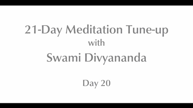 21-Day Mediation Tune-up: Day 20 with Swami Divyananda