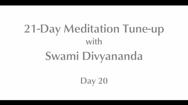 21-Day Mediation Tune-up: Day 20 with...