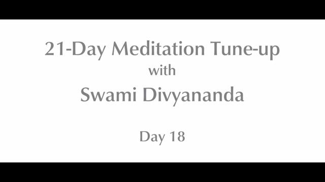 21-Day Mediation Tune-up: Day 18 with Swami Divyananda