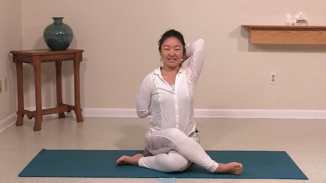 Hatha Yoga Tips: Cow Face Pose with Rukmini Ando