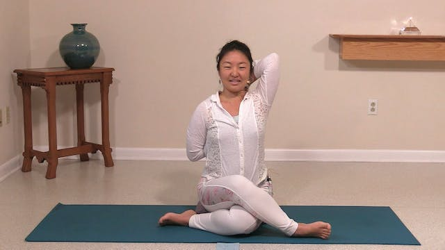 Hatha Yoga Tips: Cow Face Pose with R...
