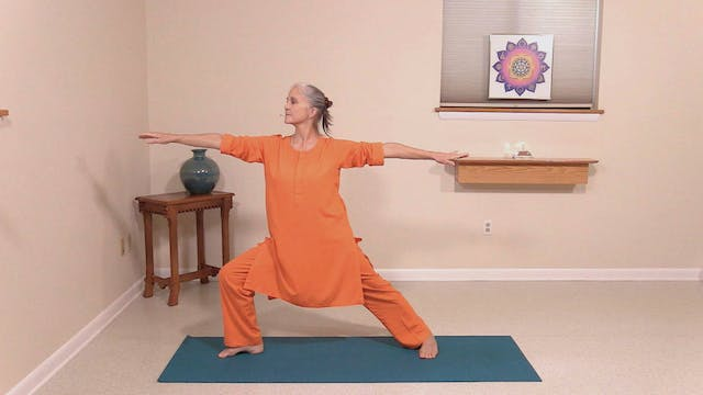 Hatha Yoga Tips: Warrior Pose with Sw...
