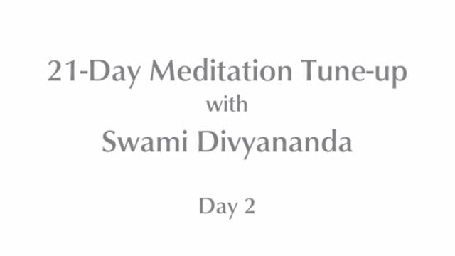 21-Day Mediation Tune-up: Day 2 with ...