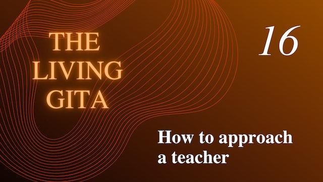 Part 16: How to Approach a Teacher