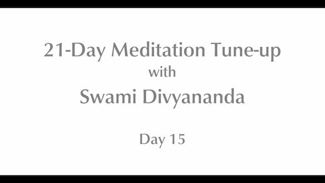 21-Day Mediation Tune-up: Day 15 with Swami Divyananda