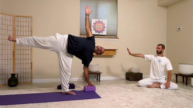 Hatha Yoga - 60-min. Level 2 with Zac...