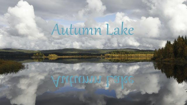 Autumn Lake - relax in Sweden's beautiful nature!
