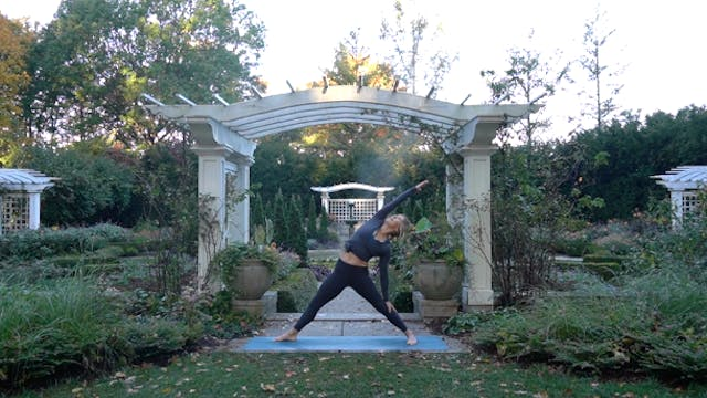 Vinyasa in Newfields Formal Garden wi...