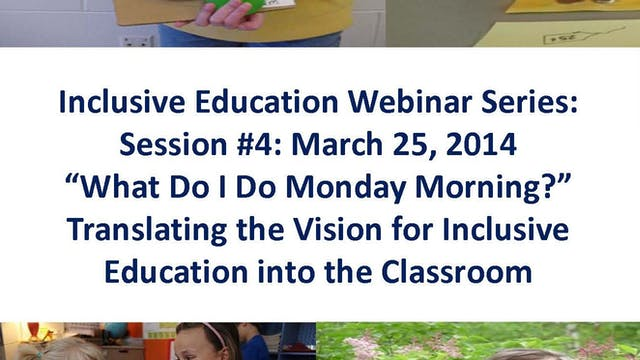 Translating the Vision for Inclusive Education