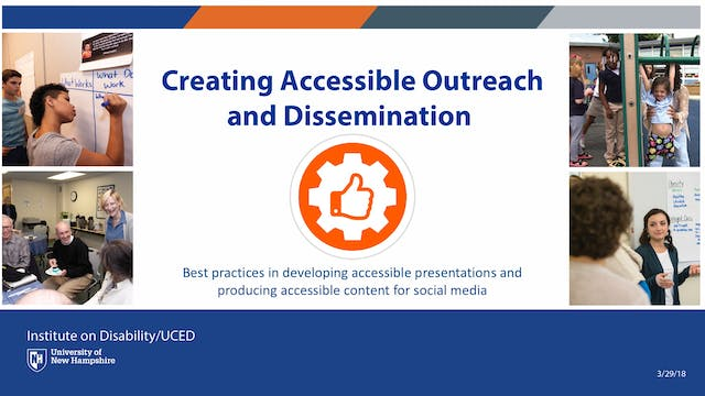 Creating Accessible Outreach and Dissemination Webinar
