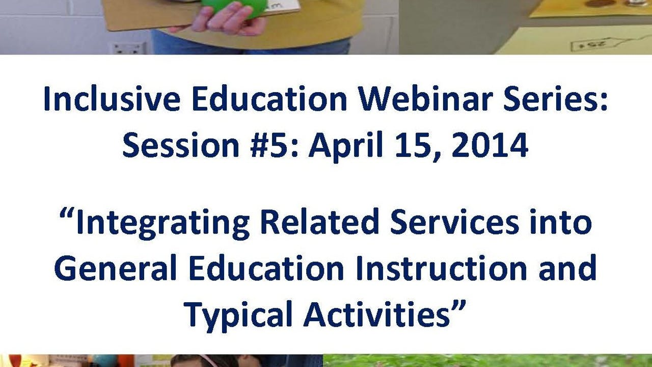 Integrating Related Services into General Ed