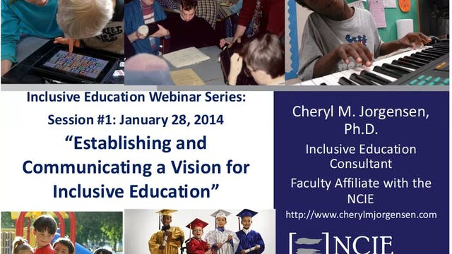 Establishing and Communicating a Vision for Inclusive Education