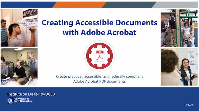 Creating Accessible Documents with Adobe Acrobat Webinar