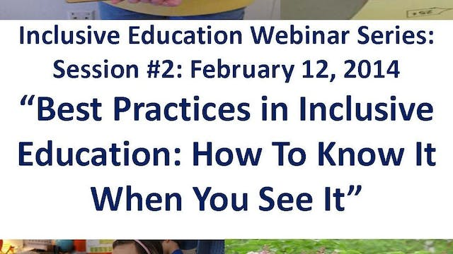 Best Practices in Inclusive Education