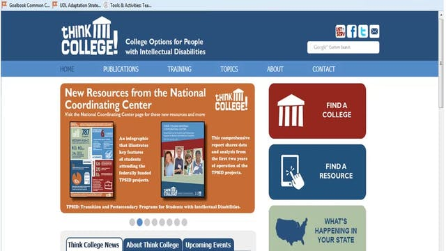 Think College! Planning for Post-Secondary Education