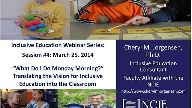 Translating the Vision for Inclusive Education into the Classroom