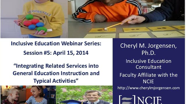 Integrating Related Services into General Ed and Typical Activities