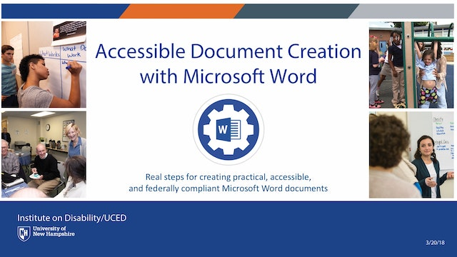 Accessible Document Creation with Microsoft Word Webinar