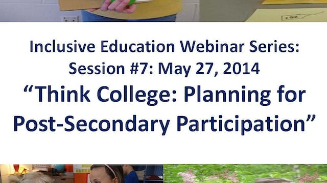 Think College! Planning for Post Secondary Ed