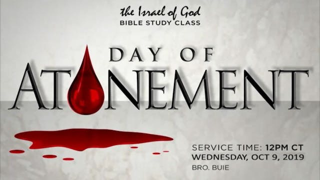 10092019 - Day of Atonement