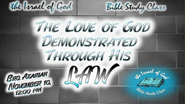 11102018 - The Love of God Demonstrat...