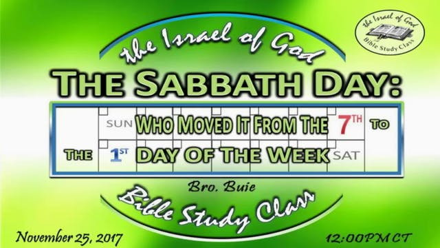 112517 - The Sabbath Day, Who Moved I...