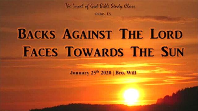 01252020 - IOG Dallas - Backs Against The Lord, Faces Towards The Sun